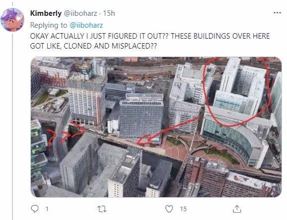 Google Maps, здание, призрак, Манчестер,