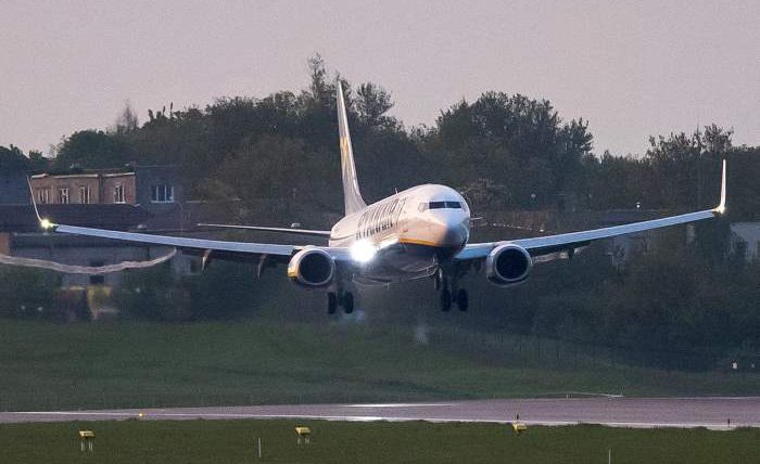 Ryanair, Минск, самолет,