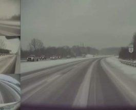 Tesla Model 3, занос, снег, автопилот,
