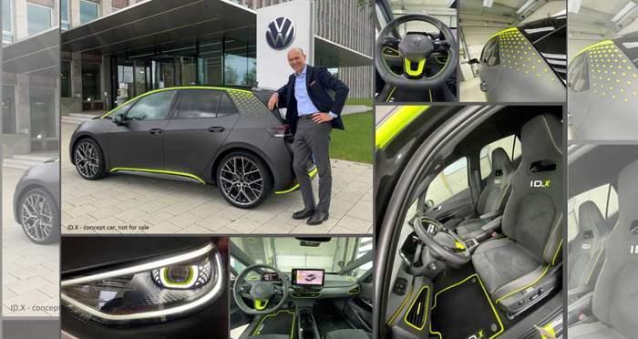 Volkswagen IDX, электромобиль,