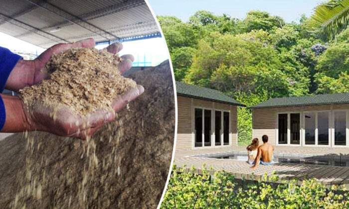 Woodpecker WPC, Колумбия, дома, кофейная шелуха,