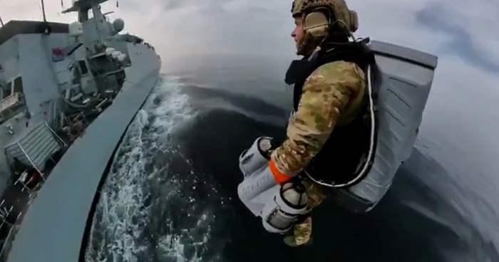 Британский Королевский флот, реактивный костюм,