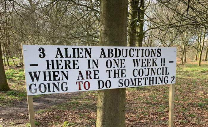Великобритания, знак, НЛО,
