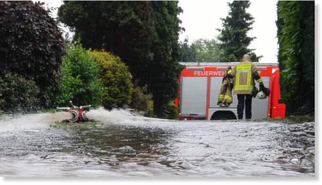 Германия, ураганы, наводнения,