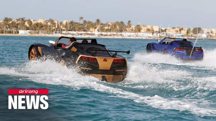 Египет, авто, плавающая машина,