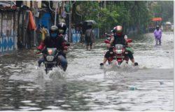 Калькутта в Индии затоплена из-за ночных проливных дождей