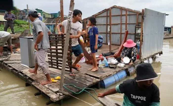 Камбоджа, плавучие дома, выселение,
