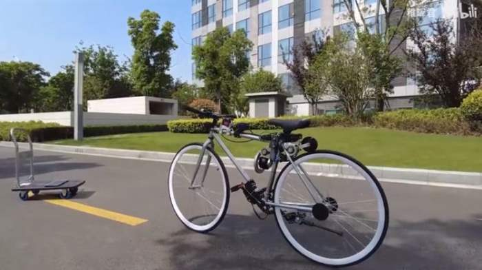 Китай, велосипед, самобалансирующийся велосипед,