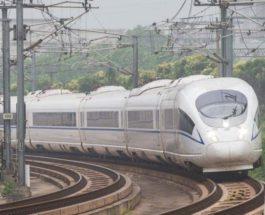 Китай, пассажирский поезд, рабочие,