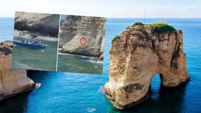 Ливан, скалы, прыжок, Рауш, трагедия,