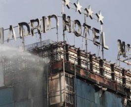 Мадрид, Отель, пожар,