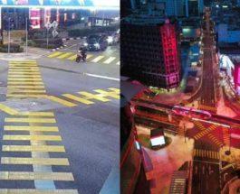 Малайзия, Куала-Лумпур, перекресток, Сибуя, Bukit Bintang,