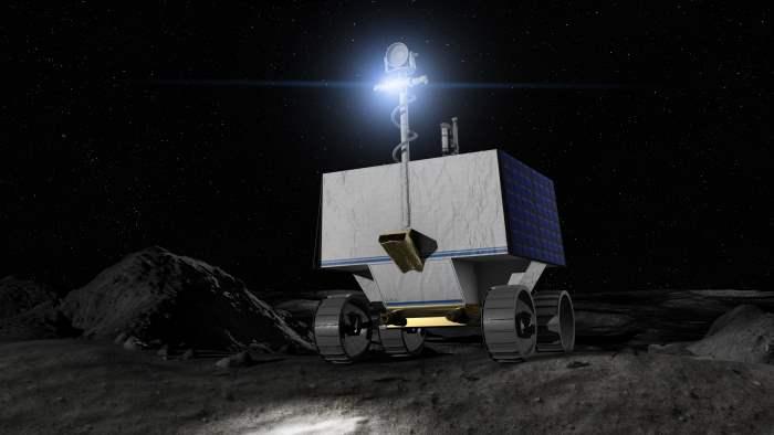 НАСА, лед, Луна,
