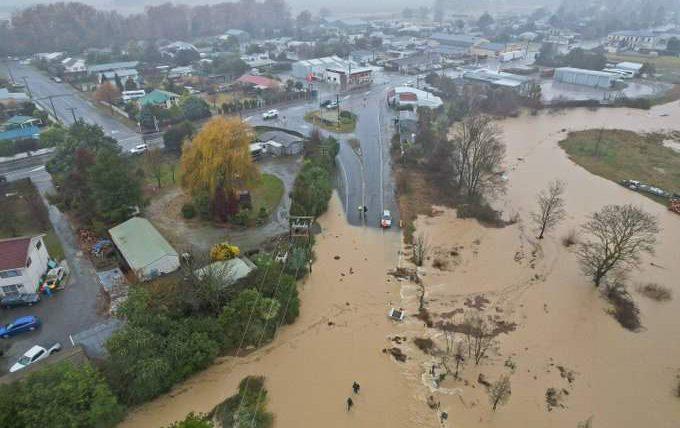 Новая Зеландия, наводнение,