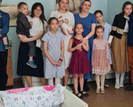 Подмосковье, 11 детей, роды,
