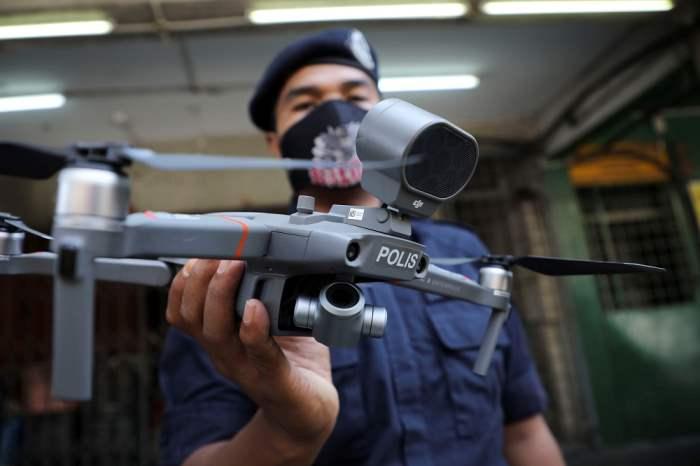 Полиция, дроны, Малайзия,
