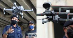 Полиция Малайзии использует дроны для контроля температуры тела людей