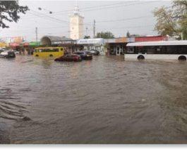 Симферополь, Дзержинск, наводнение, дождь,
