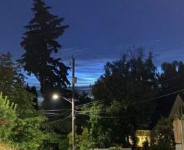 Сиэтл, Вашингтон, серебристые облака,