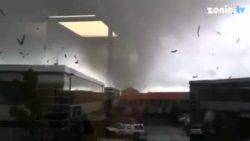 Смертельный торнадо обрушился на Окленд, Новая Зеландия