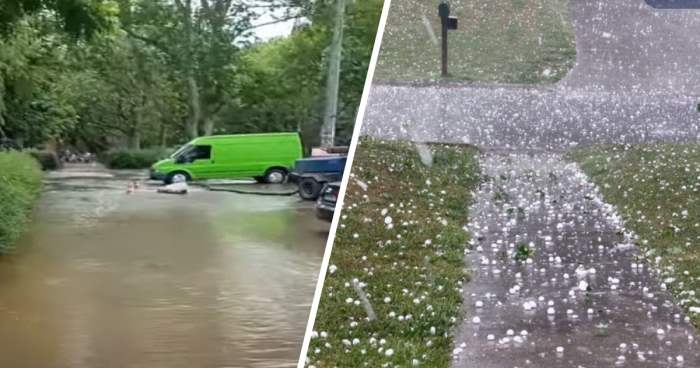 Украина, затопило, град, непогода, ливни, дожди, катаклизмы,