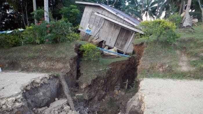 Филиппины, трещины,