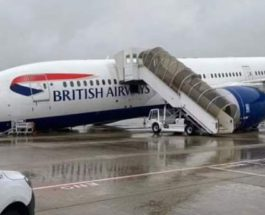 Хитроу, British Airways, стойка шасси,