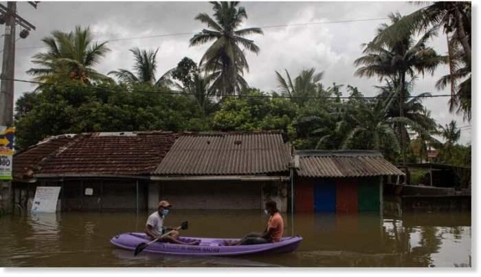 Шри-Ланка, оползни, наводнения,