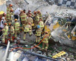 Южная Корея, автобус, здание, обрушение,
