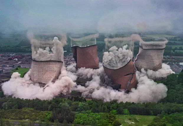градирни, электростанция, Великобритания,