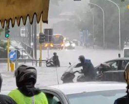 дождь, град, Рим, наводнение,