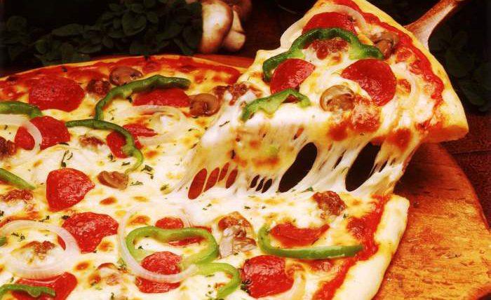 пицца, на углях,