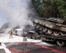 пожар, Танки, Польша, Т-72,