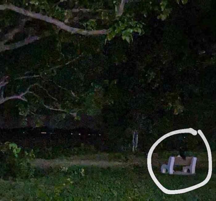 фигура, призрак, Сингапур, парк,