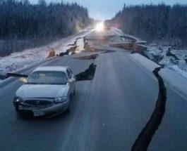 Аляска, землетрясение,