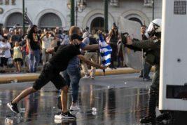 Афины, Греция, протесты,