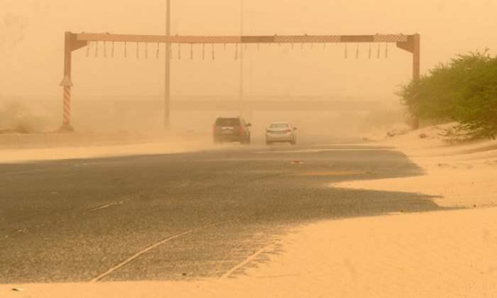 Влогер, Кувейт, песчаная буря,