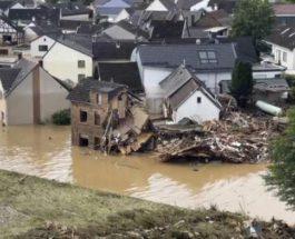 Германия, наводнение,