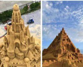Дания, замок, песок,