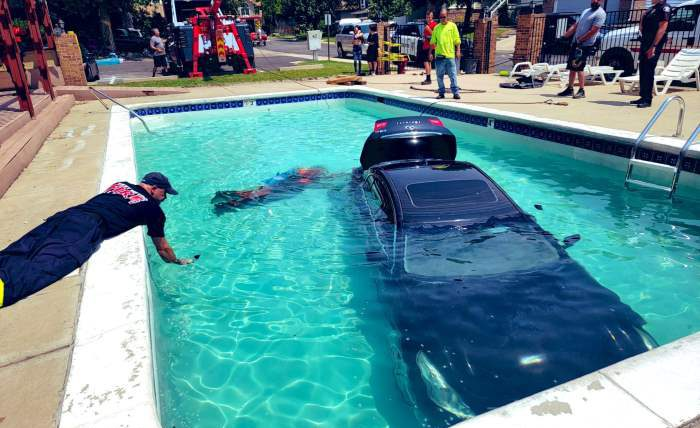 Девушка-подросток, Колорадо, машина, бассейн,