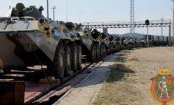 Первые эшелоны с солдатами и техникой для учений «Запад-2021» прибыли в Брест