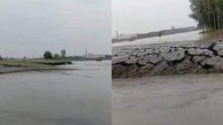 Испуганные очевидцы засняли ВИДЕО, как земля поднимается из воды