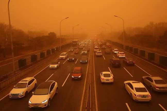 Китай, Дуньхуан, песчаная буря,