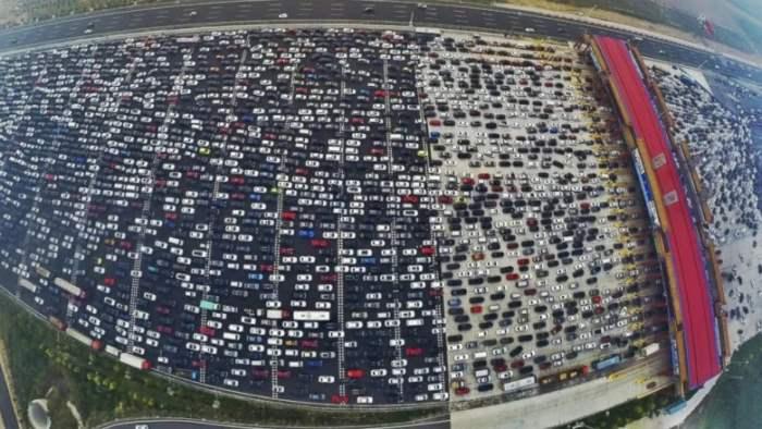 Китай, пробка, автомобильная пробка,