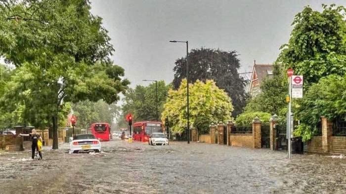 Лондон, наводнения,
