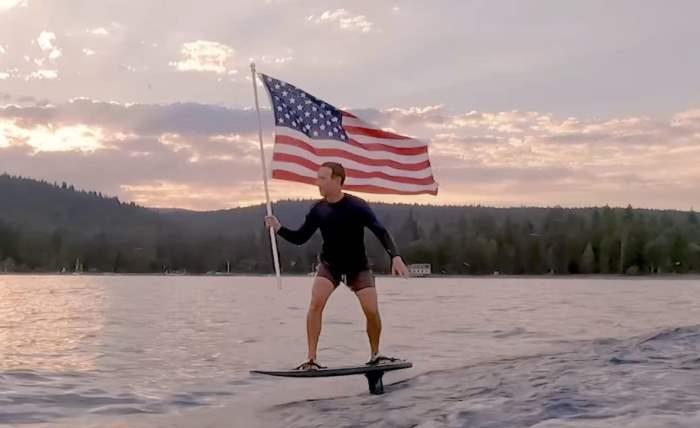 Марк Цукерберг, серфинг, США,