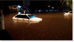 Сильные дожди вызвали наводнение в Одессе, Украина