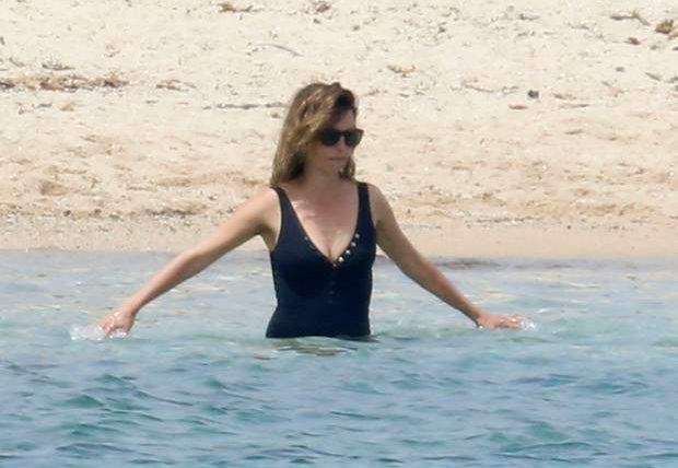 Пенелопа Крус, пляж,