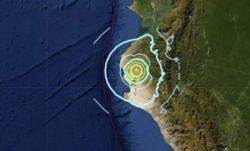 В Перу произошло сильное землетрясение магнитудой 6.1 балл
