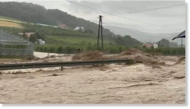 Польша, дождь, наводнения,